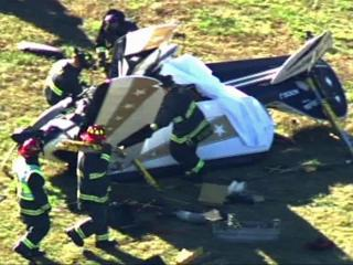 A biplane crashed Wednesday afternoon in the Cox Airfield off U.S. Highway 64 north of Apex.