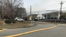 Firefighter injured while battling flames at Garner auto repair shop