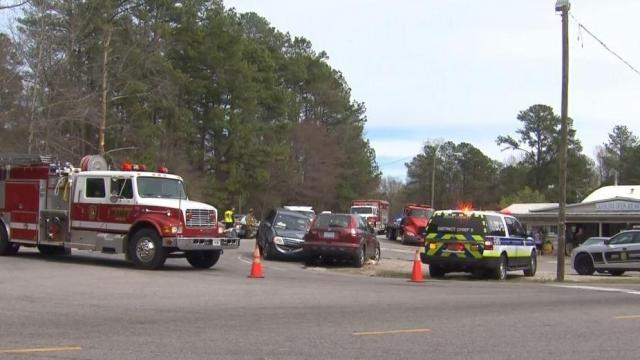 At least one person died Saturday afternoon when a van collided with an SUV at the intersection of Poole and Barwell roads in Raleigh, according to Highway Patrol.