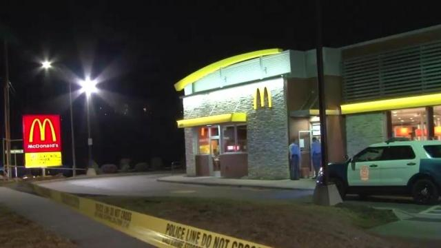 A suspect was in custody following an incident at a Raleigh McDonald's on Sunday night.