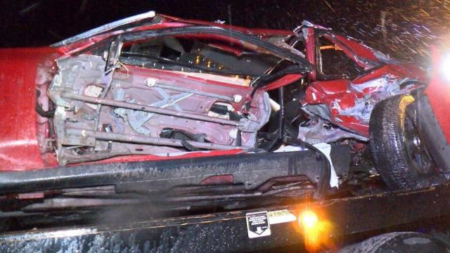 eight people were taken to the hospital after a three car crash monday night near