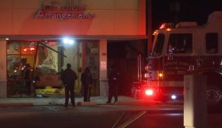 A driver crashed a car into a Spring Lake business early Thursday morning.