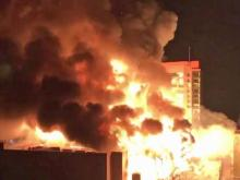 Raleigh apartment engulfed in flames