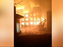 Massive fire affects several Raleigh buildings