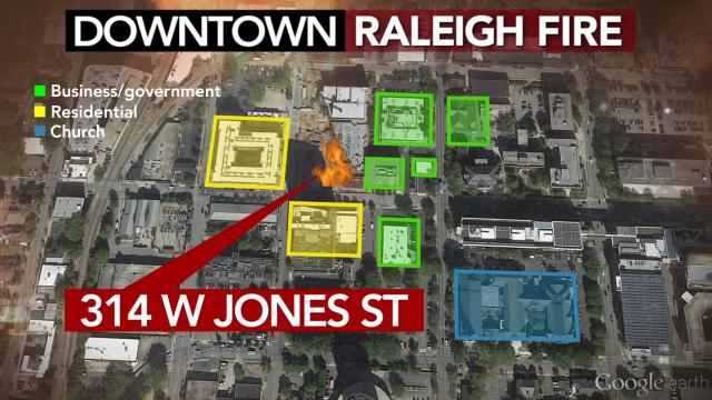 10 buildings damaged by downtown Raleigh fire