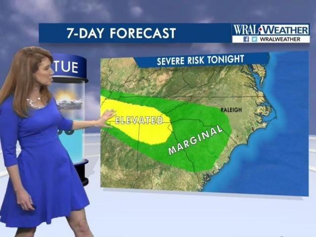 Severe weather risk, March 21, 2017 :: WRAL com