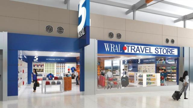 A WRAL shop is among the new concessions coming to the Raleigh-Durham International Airport.
