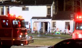 There were no reported injuries when a Goldsboro apartment was severely burned by a fire early Saturday morning, displacing two families.