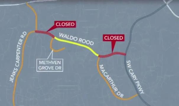 2 water main breaks close parts of Cary road