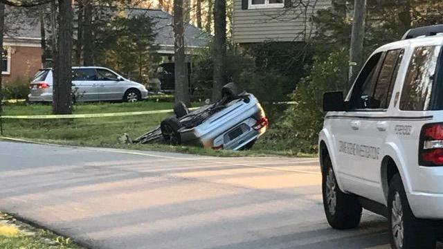 Durham Car Flips Crashes Following Shooting
