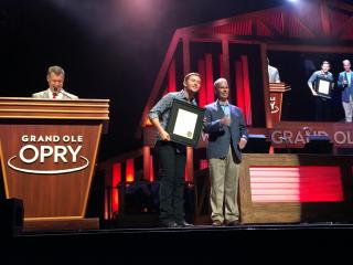 Scotty McCreery recognized for charitable service to NC