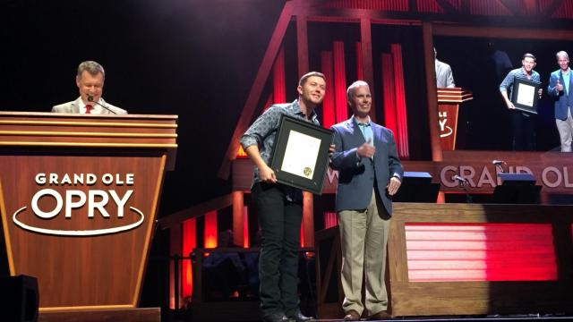 Country singer and Garner native Scotty McCreery was presented with the Order of the Long Leaf Pine Award from the State of North Carolina Tuesday night at the Grand Ole Opry in Nashville, Tennessee.
