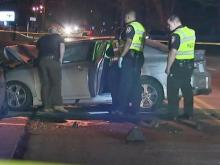 One person was killed following a two-car crash Sunday night in Durham.