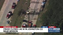 Crash closes I-40 W in Johnston Co near Benson