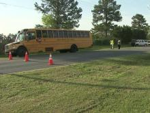 34 students on bus involved in crash near Wake Forest