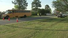 11 students treated for minor injuries after Wake schools bus crash