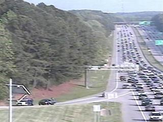 A large police presence on Interstate 40 near Harrison Avenue (exit 287) caused traffic delays Sunday evening.