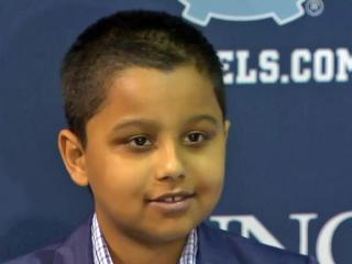 Eight-year-old Yash Krishnan has visited with the cross country team and he's already considered an asset. On Monday, his special signing day, he officially became a Tar Heel.