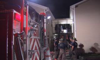 No one was injured early Wednesday morning when a fire started at a Durham apartment building.
