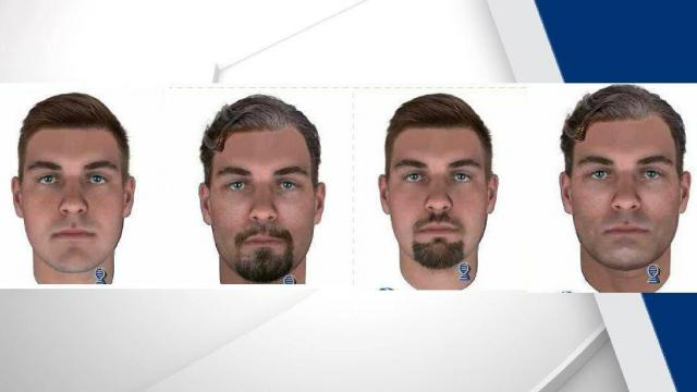 "Using the DNA, several composite sketches were created in attempt to identify and locate the suspect. ""The composites are with and without facial hair and age-progressed to what the suspect may look like today,"" detectives said."