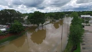 Drone 5 shows flooding in Raleigh