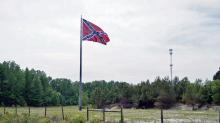 IMAGES: Confederate 'mega flag' turning heads along I-95 near Fayetteville