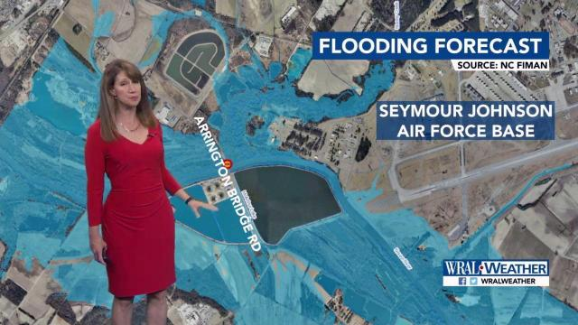 Flooding forecast: Neuse River to crest Sunday, April 30, 2017