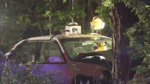 A 56-year-old man died Saturday night when he crashed his car on Creedmoor Road in Raleigh.