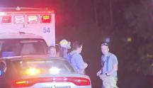 IMAGES: 56-year-old man dies in single-vehicle crash near Falls Lake