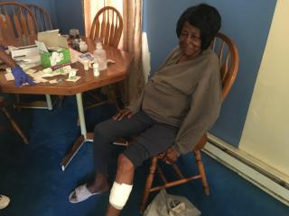 A 66-year-old Fayetteville woman is recovering after being attacked by two pit bulls Sunday afternoon.