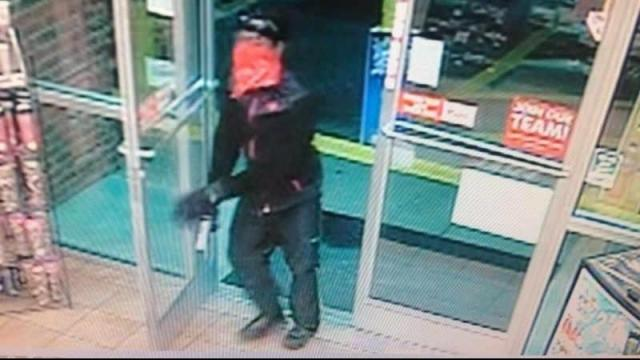 Police asked the public's assistance finding a masked gunman who kidnapped a woman working at an Horry County convenience store early Sunday morning. (Source: Horry County PD)