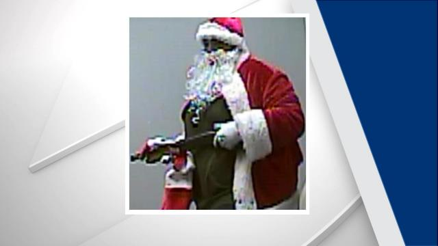 Durham police are asking for the public's help to identify a man who dressed as Santa during a recent armed robbery of a Boost Mobile store on Avondale Drive.