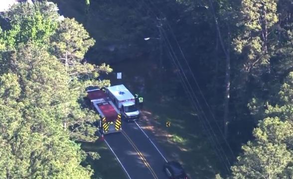 Apex Road closes after car flips off bridge into Beaver Creek