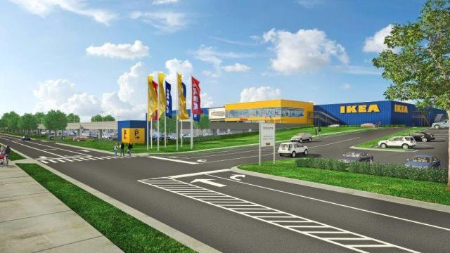 Architectural rendering of the proposed Cary IKEA