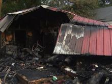 Shed ignites after driver crashes in Fayetteville