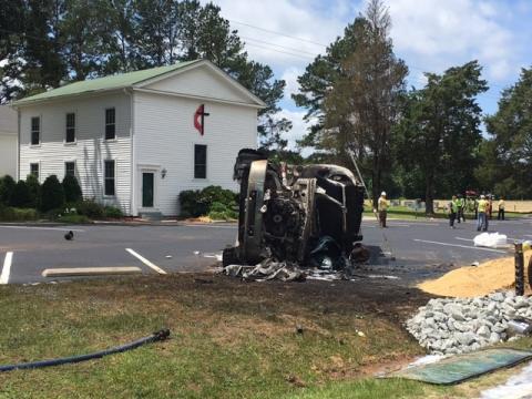Driver killed in Clayton fuel tanker crash
