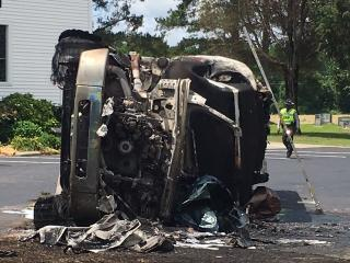 Driver killed in Clayton fuel tanker crash