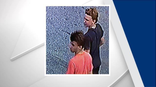 Fayetteville police are searching for two adolescents accused of causing thousands of dollars' worth of damage to a shopping center.