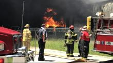 IMAGES: Henderson plant destroyed second time by fire