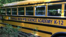 IMAGES:  Triangle Math and Science Academy school bus crash