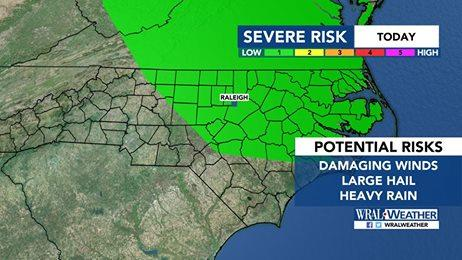 Strong to Severe Thunderstorms Possible This Afternoon