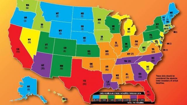Heat stroke fatalities by state