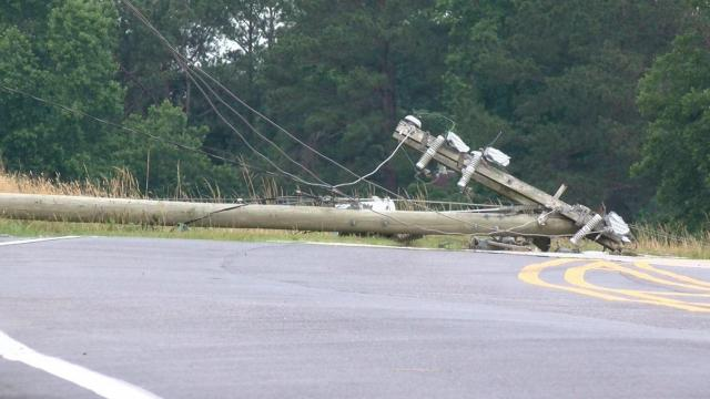 More than 500 Duke Energy customers were without power Wednesday morning in Johnston County after a driver crashed into a power pole.
