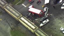 IMAGE: Coca-Cola truck involved in crash with train in Fremont
