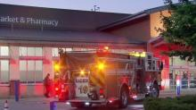 IMAGES: Truck crashes into Walmart store in Raleigh