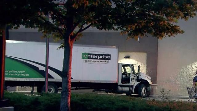 Truck crashes into Walmart store in Raleigh
