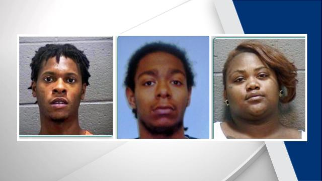 Three people were arrested Sunday night in connection with a shooting that left one man dead.