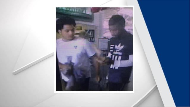 Apex police seek to ID two car break-in suspects