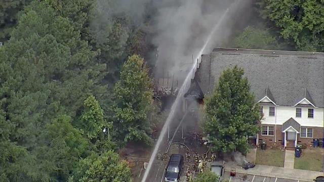Raleigh townhome fire