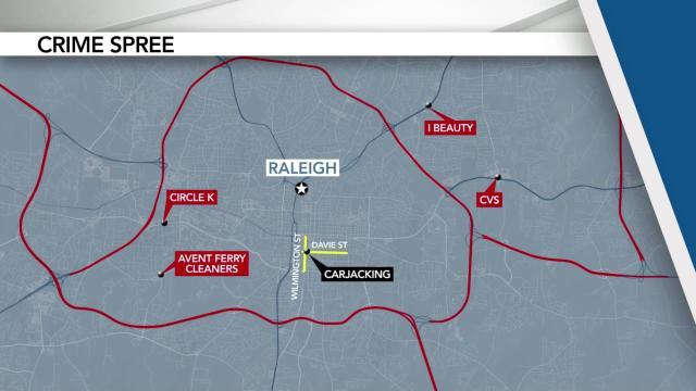 Wake County crime spree
